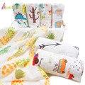 Хлопковое одеяло для новорожденных  муслиновое одеяло для новорожденных  дышащее  110*110 см