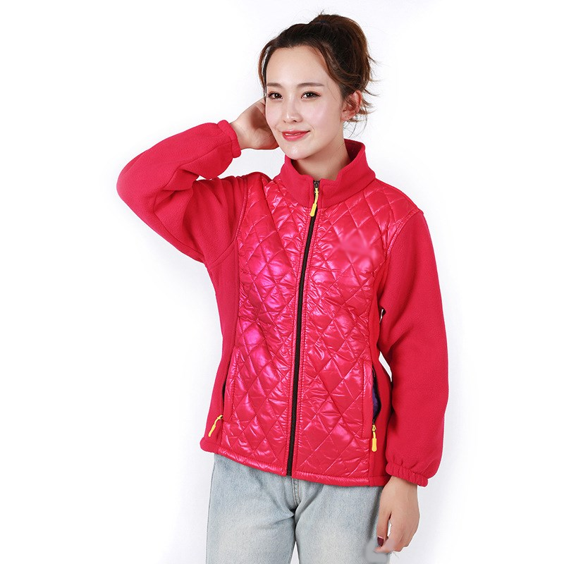 Autumn Winter Fleece Sweatshirt Warm Coat Fashion Casual Patchwork Cardigans Coat Long Sleeve Plus Size Coat Outwear