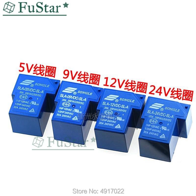 2PCS SLA-48VDC-SL-A 48V T90 30A 250VAC 30VDC ORIGINAL SONGLE Relay 5PIN
