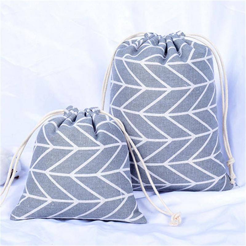 Cotton Packing Organizers Bag For Travel Outdoor Drawstring Traveling Bags Clothes Clothing
