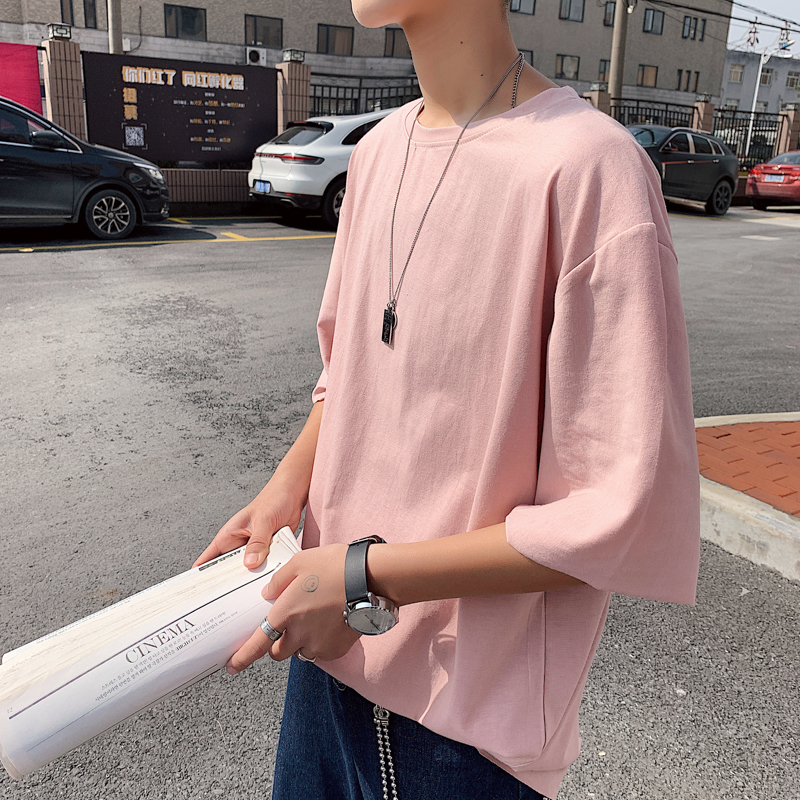 2019 New Round Neck Short Sleeve T Shirt Men Cotton White Color tshirt Summer Top Free Shipping in T Shirts from Men 39 s Clothing
