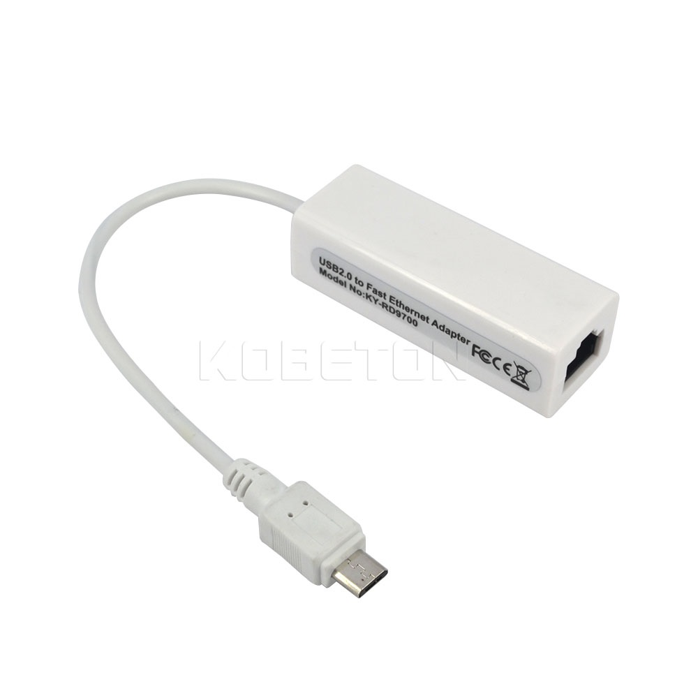 Micro USB 2.0 to Ethernet 10//100 RJ45 Network LAN Adapter Card Dongle