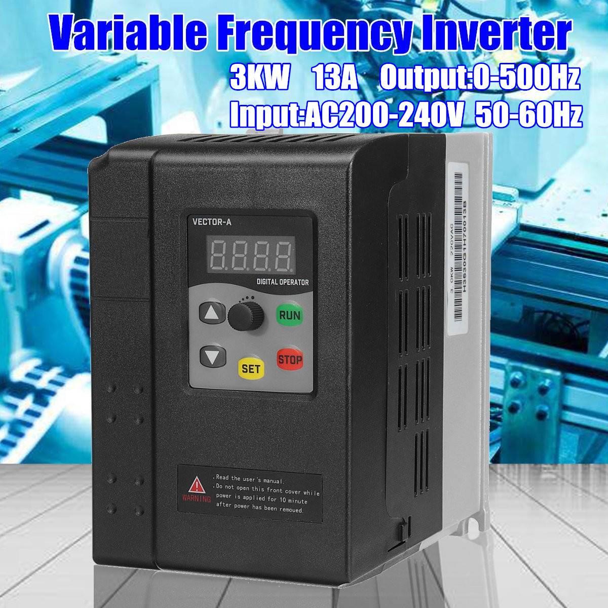 CNC Broche contrôle la vitesse du moteur 220 v 3kw VFD variateur de fréquence VFD 1 phase d'entrée 3 phase sortie variateur de fréquence