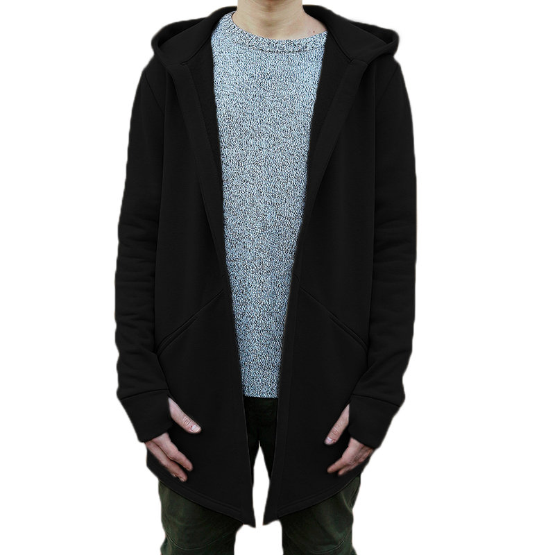 New Plain Mens Causal Cardigan Hooded Pullover Jumper Designer Jacket Coat Top