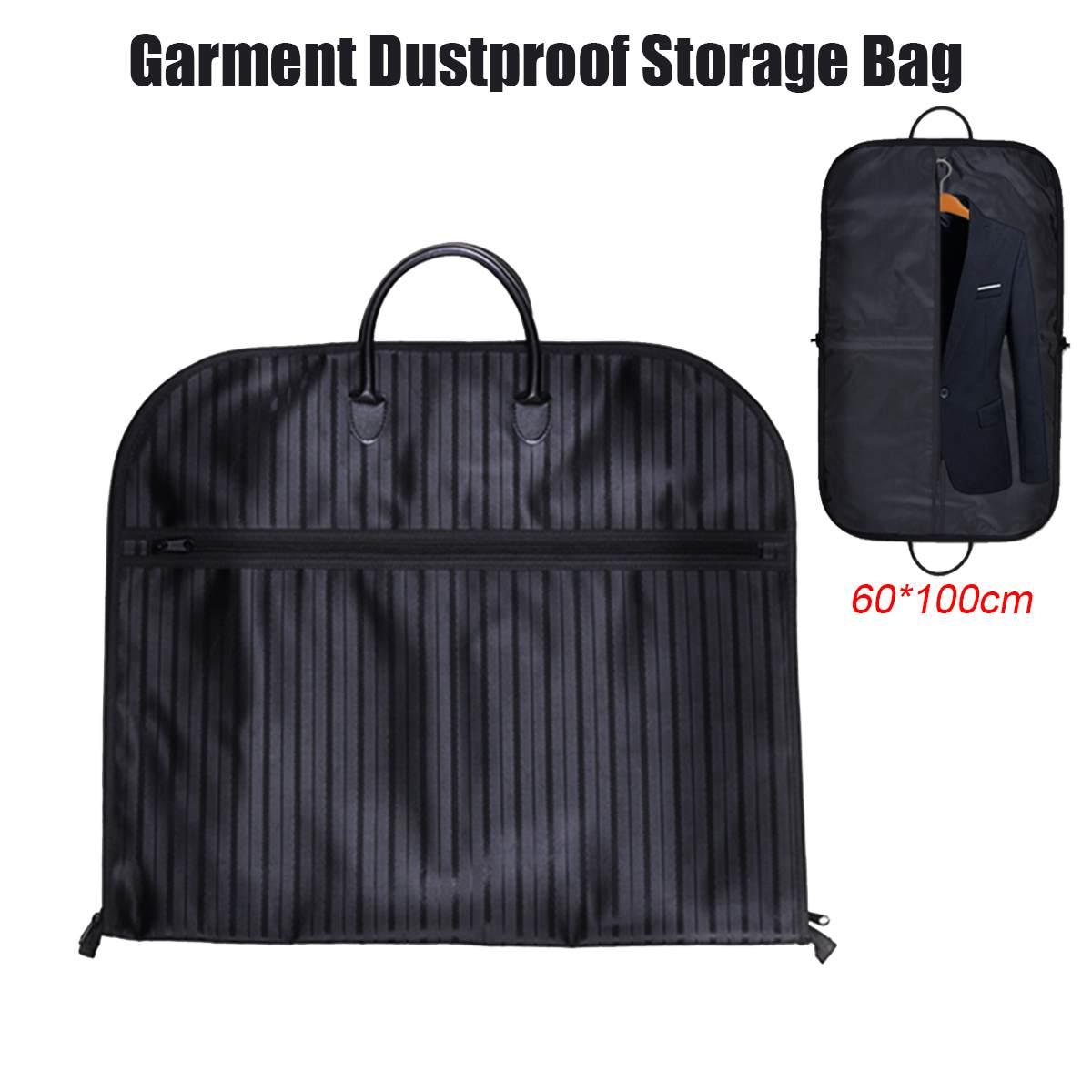 60*100cm Dust-proof Dress Clothes Cover Case Suit Dress Garment Bag Storage Travel Carrier Coat Jacket Home Zipper Protector