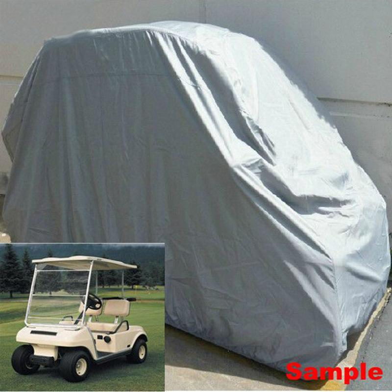 2/4 Passenger Golf Cart Cover Waterproof UV Resistant Easy on Covers For Yamaha Club Car EZ GO Model Golf Car Cover
