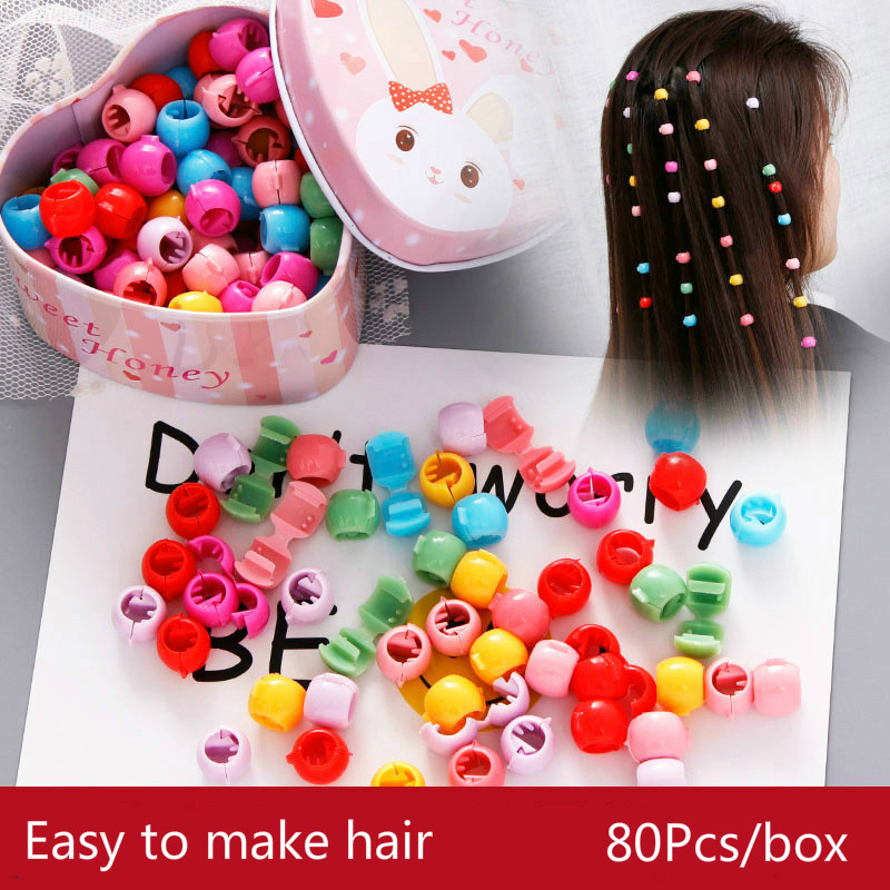 2019 Newest Charm Beads Hairpin For Girls Candy Colors Plastic Mini Hair Clips Cute Multi Color Doug Buckle For Hair Accessories