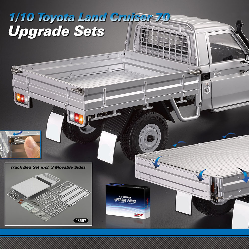 GOOLSKY ABS Truck Bed Set 3 Movable Gate Strong And Durable For 1 10 Toyota Land