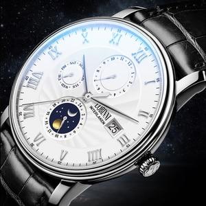 Image 3 - Relógio suíça lobinni masculino, relógios de marca de luxo de pulso seagull sapphire mecânico automático masculino L1023 2