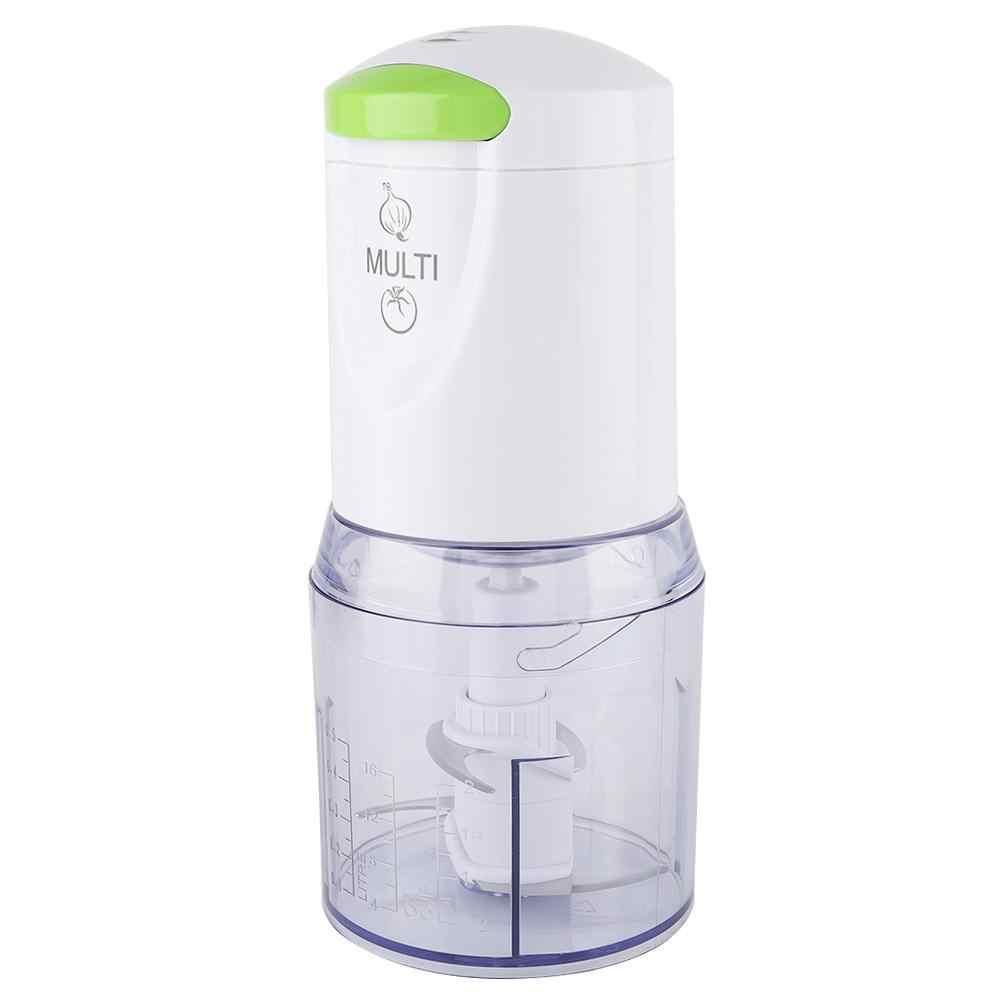Trituradora eléctrica de cocina, trituradora de carne, mezcladora de fruta para el hogar, mezcladora de 2 cuchillas