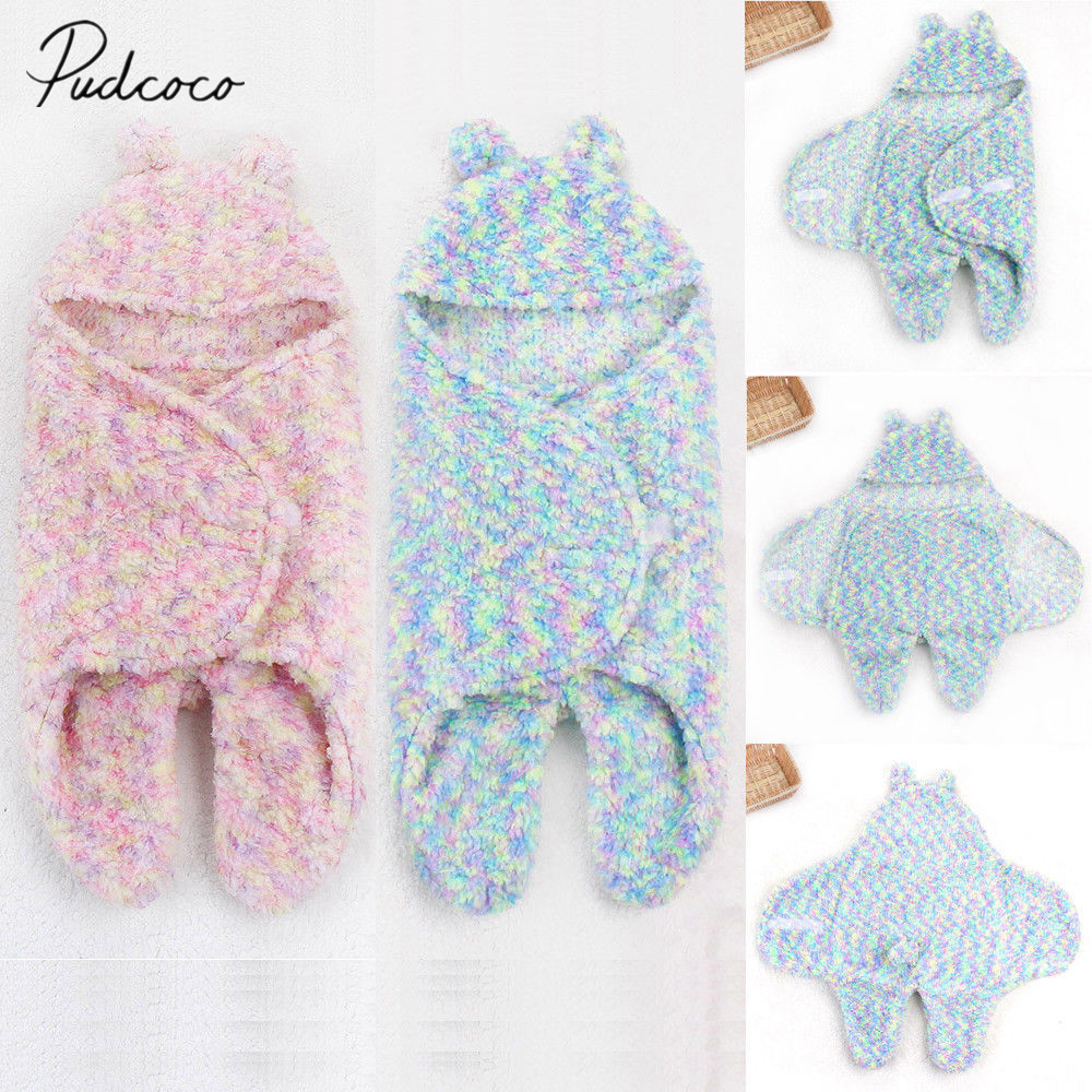 4bf3652ee 2019 Brand New Newborn Infant Baby Boy Girl Winter Soft Swaddle Coloful Sleeping  Bag Wrap Bed Bunny Hooded Thick Blanket 0-6M ~ Super Sale June 2019
