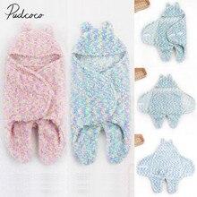 Новинка года, брендовый мягкий зимний спальный мешок для новорожденных мальчиков и девочек, цветной спальный мешок, плотное одеяло с капюшоном и рисунком кролика для детей от 0 до 6 месяцев