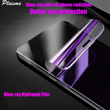 3D Cover Anti-blue Light Ray Hydrogel Film Screen Protector For Samsung Galaxy S10 S9 S8 A8 Plus Note 9 Note 8 S7 Edge Film аксессуар защитная плёнка для samsung galaxy note 5 monsterskin anti blue ray