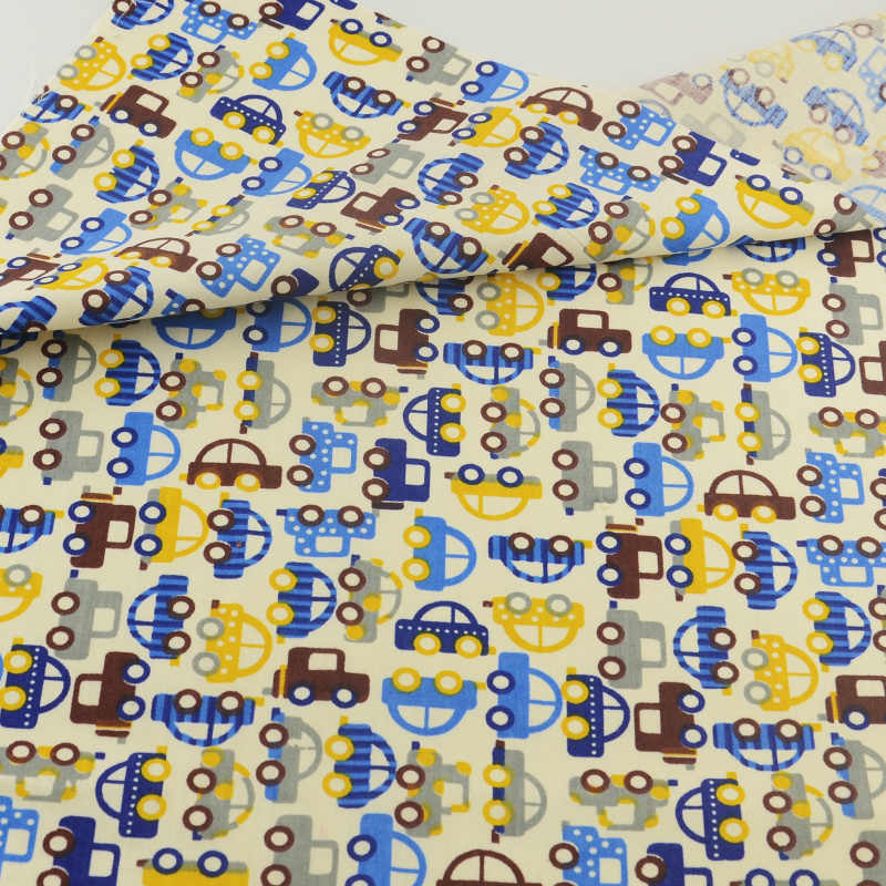 Colored Cars Cotton Fabric Clothing Patchwork Home Textile Quilting Sewing Cloth Crafts  Bedding Decoration Teramila Fabrics