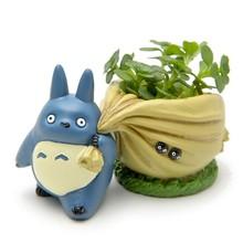 Kawaii Flowerpot Bulbasaur Succulent Planter Cute Green Plants Flower Pot With Hole Cute Mini Back Bag Resin Flower Pot