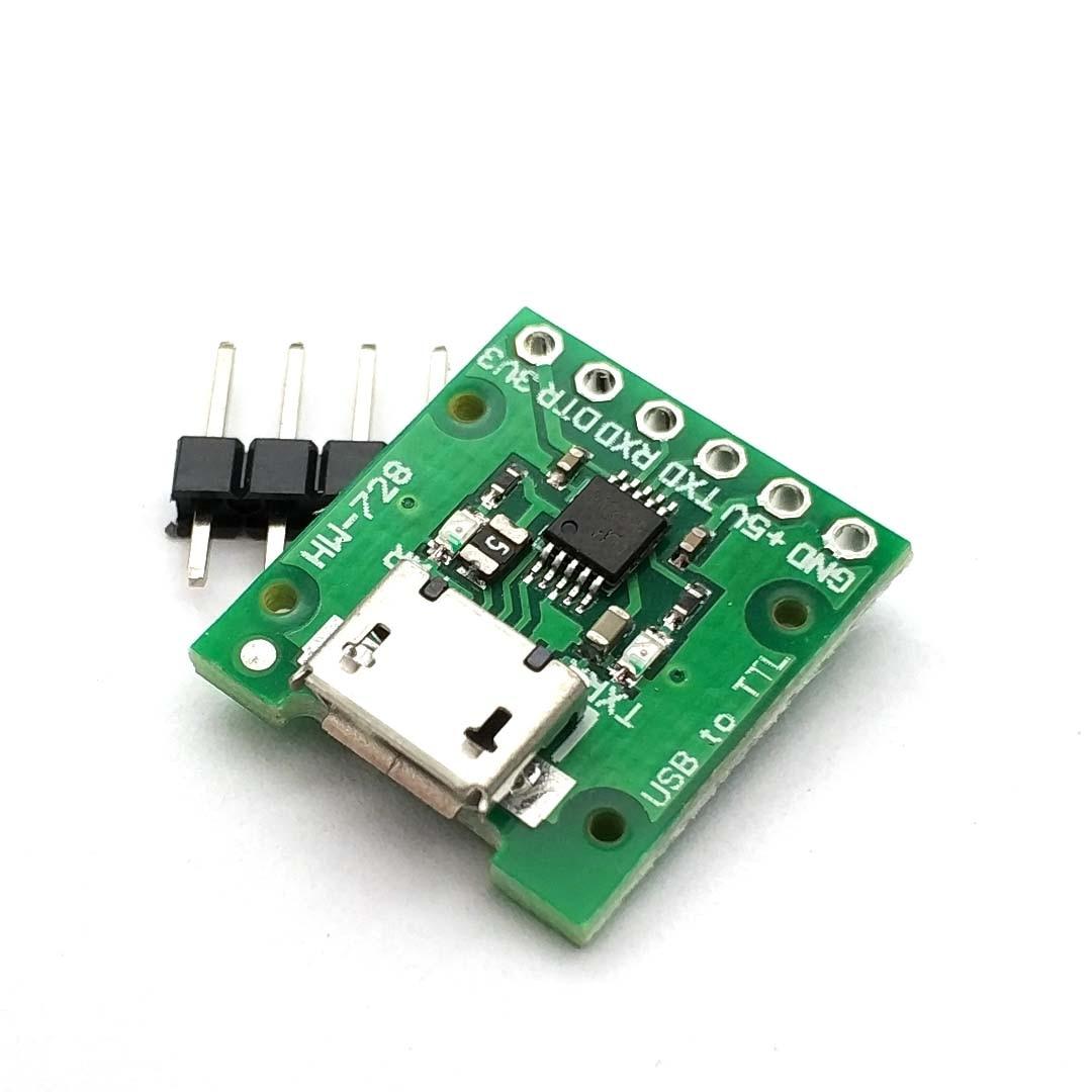 CH340E USB To TTL Serial Converter, 5V/3.3V Alternative CH340G Module For Pro Mini