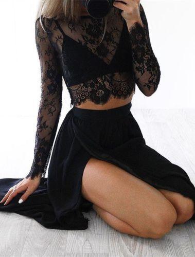 2-Piece Lace Maxi Dress Set 4