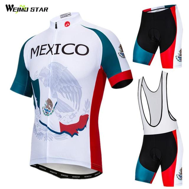 Weimostar Mexico Team Cycling Jersey Set Summer Men Cycling Clothing Racing  Bicycle Clothes Breathable Mountain Bike 7cdb5ed1a