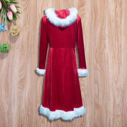 Christmas Dress Women Ladies Dresses Xmas Holiday Dress Santa Long Sleeve Xmas Family Matching Clothes NEW Red 5