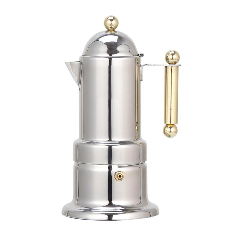 200ml 4 Cups Stainless Steel Coffee Pot Moka Coffee Maker Cafetera Teapot Filter Automatic Coffee Machine Espresso Machine 200ml 4 Cups Stainless Steel Coffee Pot Moka Coffee Maker Cafetera Teapot Filter Automatic Coffee Machine Espresso Machine