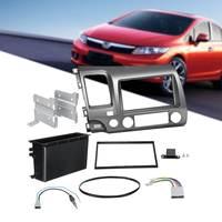Doppel Din Auto Stereo Fascia Dash für Honda für Civic 2006 2011 DVD CD Panel Gesicht Rahmen Radio Fascia kit Nur für Links Fahren-in Faszien aus Kraftfahrzeuge und Motorräder bei