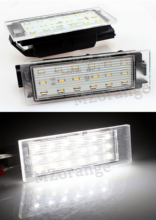 2 pcs Car LED Number License Plate Light SMD3528 For Renault Megane  Clio Laguna 3 Twingo Master Vel Satis
