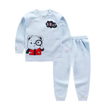 2018 Baby girl Europe, Korean Cartoon Bear Prints Two Pieces Of Children's Spring And Autumn Suit. kids clothes tracksuit .(China)