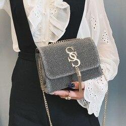 Mulheres glitter bolsa de ombro luxo espumante festa noite envelope embreagem bolsa carteira senhoras bolsa crossbody saco oc356