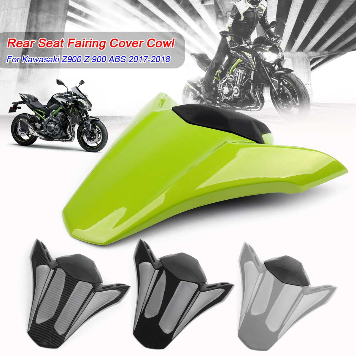 New Motorcycle Pit Dirt Bike Rear Seat Fairing Cover Tail Cowl Fairing Seat Cover For Kawasaki