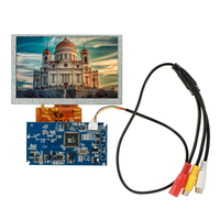5 High Resolution 800*480 LCD Display Module Kit TFT Monitor Screen with PCB Driver Board for Digital Photo Frame Car Systems