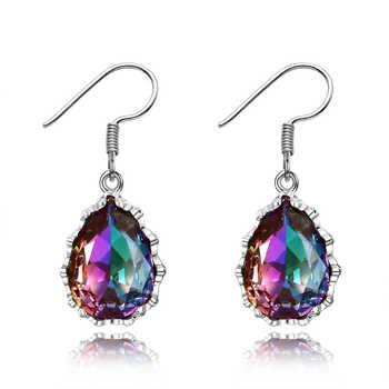 Offre spéciale charme 925 en argent Sterling boucles d'oreilles bijoux boucles d'oreilles avec 10X14 MM pierres précieuses pour les femmes cadeaux de fête classique
