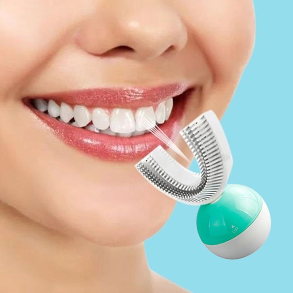 Electric Ultrasonic Toothbrush Intelligent automatic Toothbrush Ring wireless toothbrush 360 degrees Clean Lazy U-shaped braces