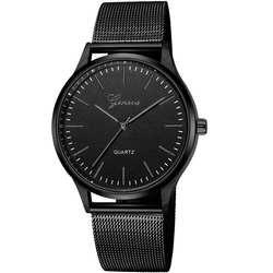 Модные женские Женевские часы сетка Группа нержавеющая сталь Аналоговые кварцевые наручные часы леди роскошные часы женский Relogio Feminino