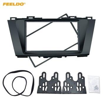 Feeldo Mobil Stereo Panel untuk Mazda 5 Premacy Nissan Lafesta Tinggi Bintang 2DIN Radio Fasia Bingkai Refitting Dash Trim Kit # FD5014