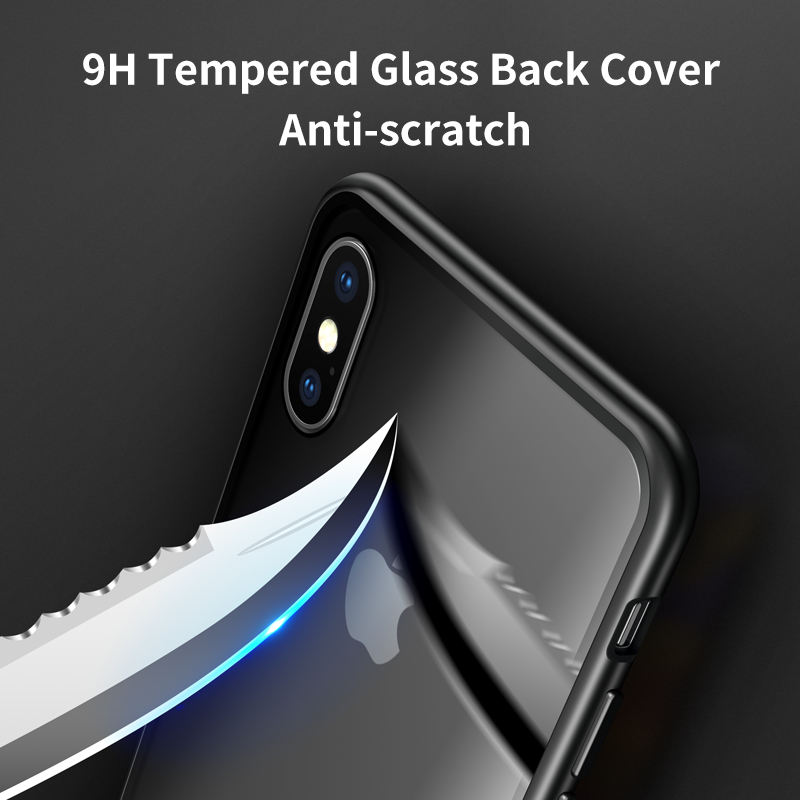iHaitun Luxury Magnetic Glass Case For iPhone 11 Pro Max XS MAX XR X Cases Magnet Flip Back Cover For iPhone X 10 7 8 Plus Phone