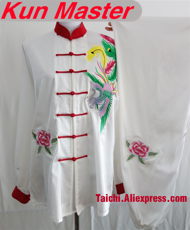 Custom Tai Chi Performance Uniform Phoenix Peacock Embroidery  Martial Art Clothing For Kung Fu Multiple Patterns