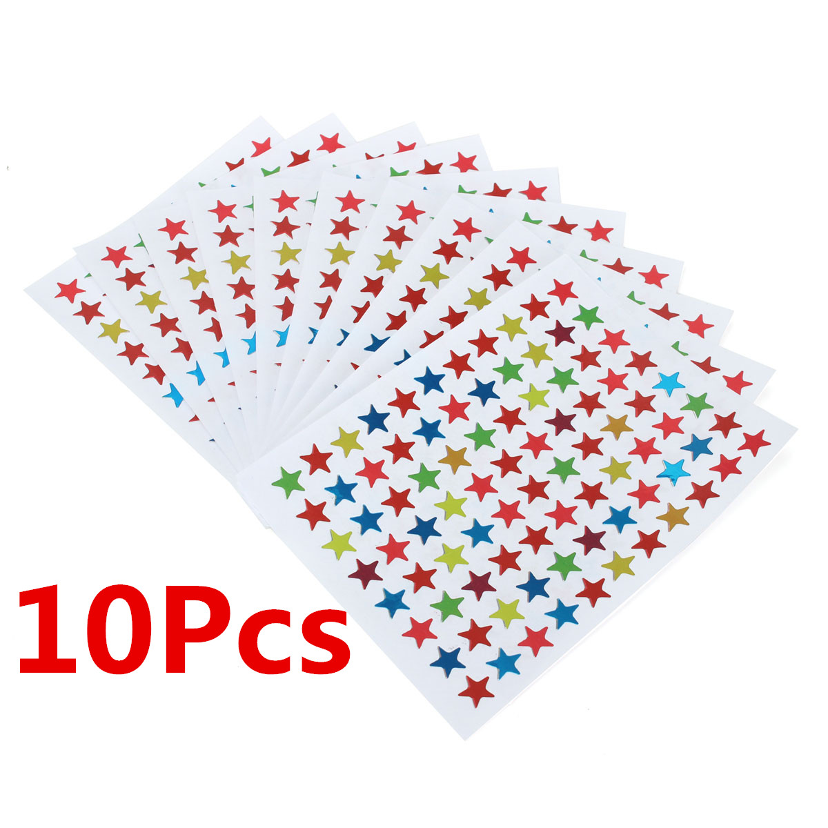 10pcs Lovely Star Stationery Sticker Teacher Label Reward Gift For Children Student Learning Book Sticker Decor School Supplies