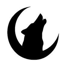Wolf Month Bumper Sticker Interesting Window Vinyl Accessory Packaging Decal Animal