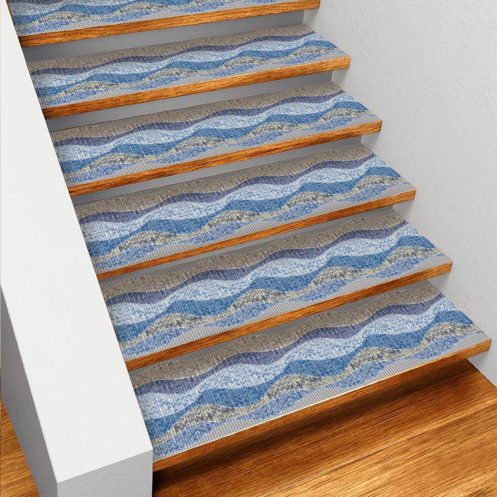 Hot Sale Self-Adhesive Stair Stickers,Removable Kitchen Self-Adhesive Stair Stickers Tile Decals Waterproof Wallpaper Stair Fl