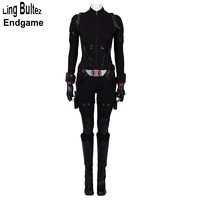 Ling Bultez High Quality Avengers Endgame Black Widow Costume Newest Black Widow Cosplay Suit