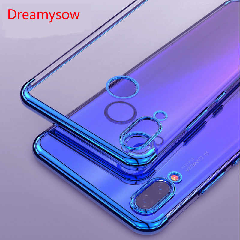 Soft TPU Transparent Anti-shock Back Case for Huawei Nova 3 3i 3e 2i Cover Plating for honor 8C 8X lite P smart 2019 7C 5.7''