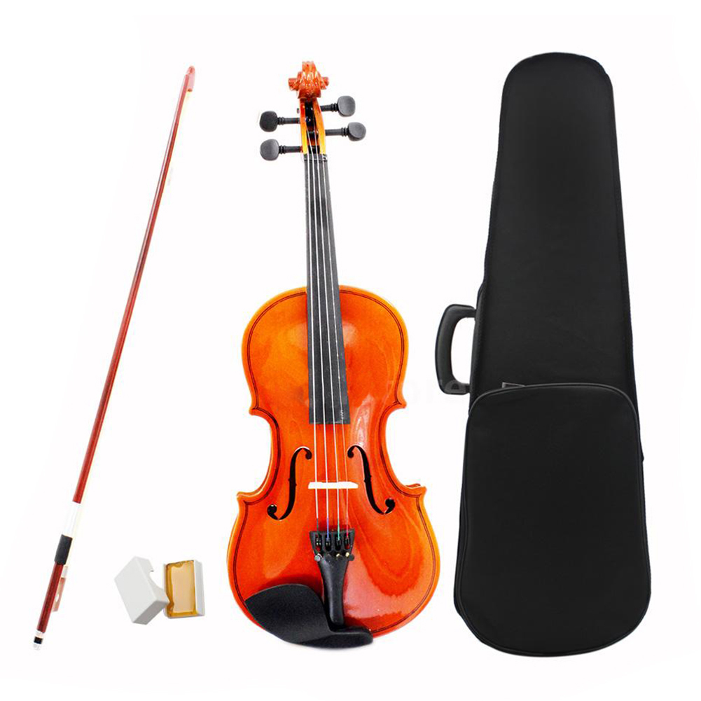 ADDFOO 1/2 Size Natural Violin Basswood Steel String With Case Arbor Bow Rosin Bridge Natural Acoustic Violin For Kids Beginners