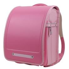 2019 new design Girl Backpack For Children School Bag Japanese PU Hasp Solid High Quality Kid Randoseru Orthopedic Backpacks