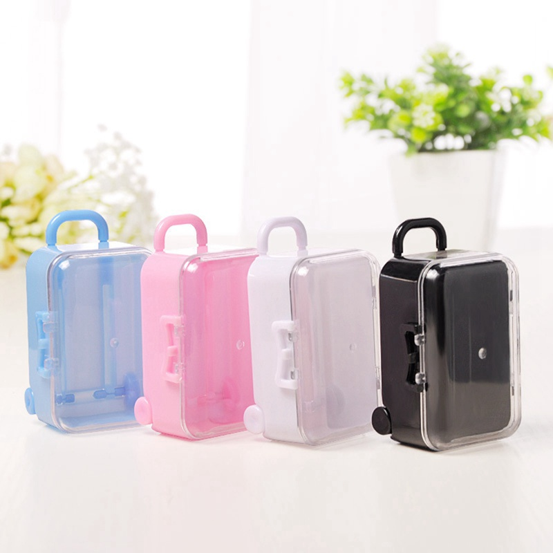 Mini Roller Travel Suitcase Candy Box Personality Creative Wedding Candy Box Luggage Trolley Case Candy Toy Small Storage Box