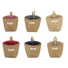 Cotton Linen Storage Bag Hamper Hanging Clothes Home Gadget Organizer Foldable Basket Bin Products