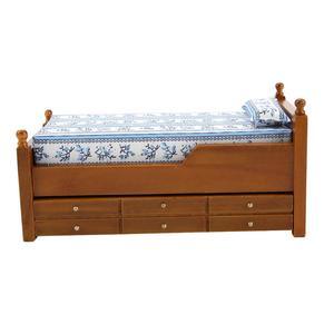 Image 4 - Mini casa de muñecas de madera con cajones deslizantes, muebles de decoración para dormitorio y sala de estar