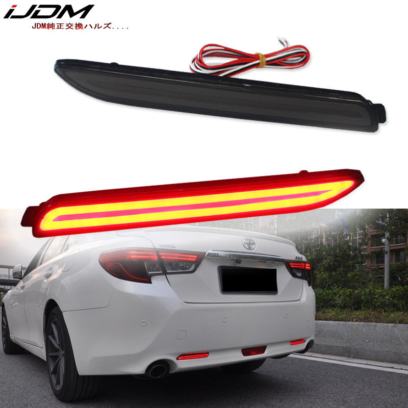 PGONE 3D Optic LED Rear Bumper Reflectors Brake Tail Lights and Sequential Turn Signal Lamps Kit For 2018 2019 Toyota Camry