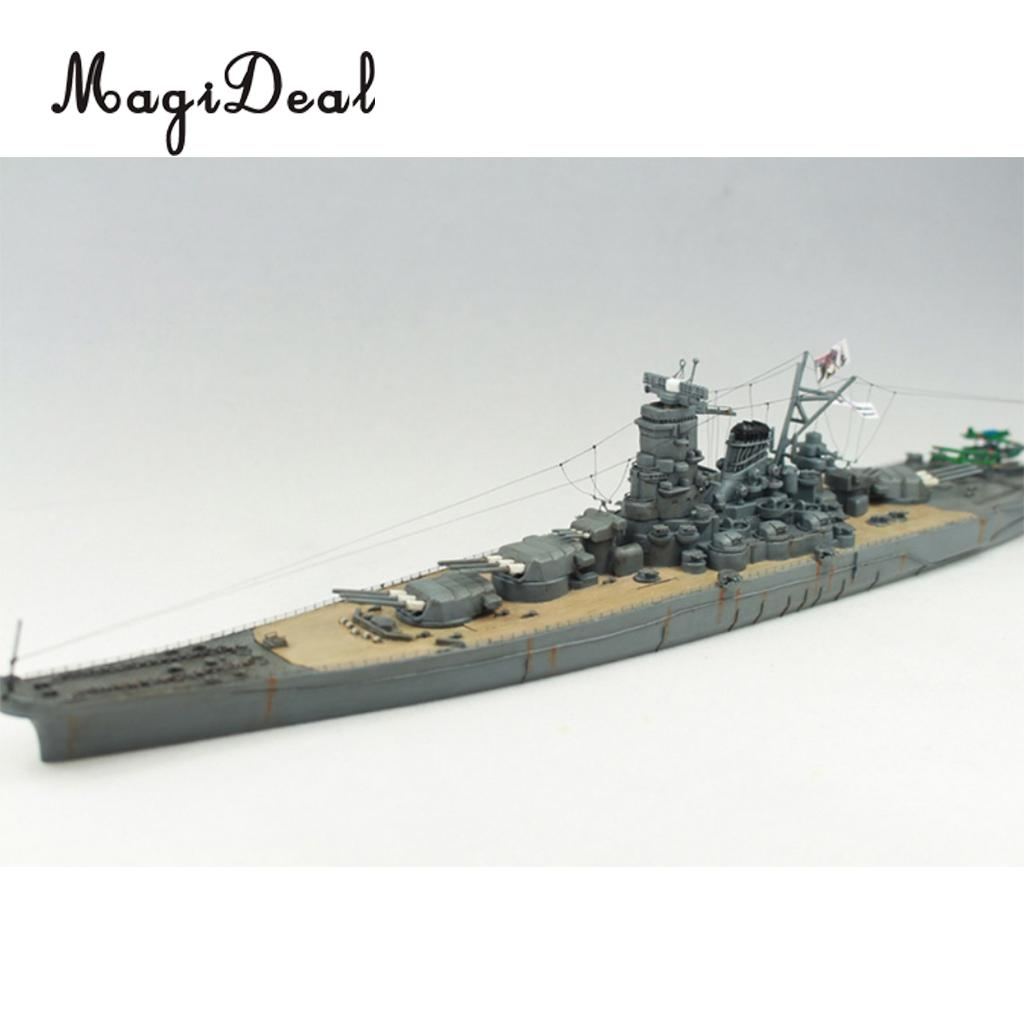 MagiDeal <font><b>1</b></font>:<font><b>700</b></font> <font><b>Scale</b></font> 30cm Plastic WWII Warship Japanese Yamato Battleship <font><b>Model</b></font> Kits for Kids Children Toy Cool Gift image