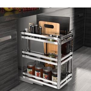 Image 5 - Accessories Organizer Mutfak Malzemeleri Stainless Steel Cuisine Cocina Cozinha Kitchen Cabinet Cestas Para Organizar Basket