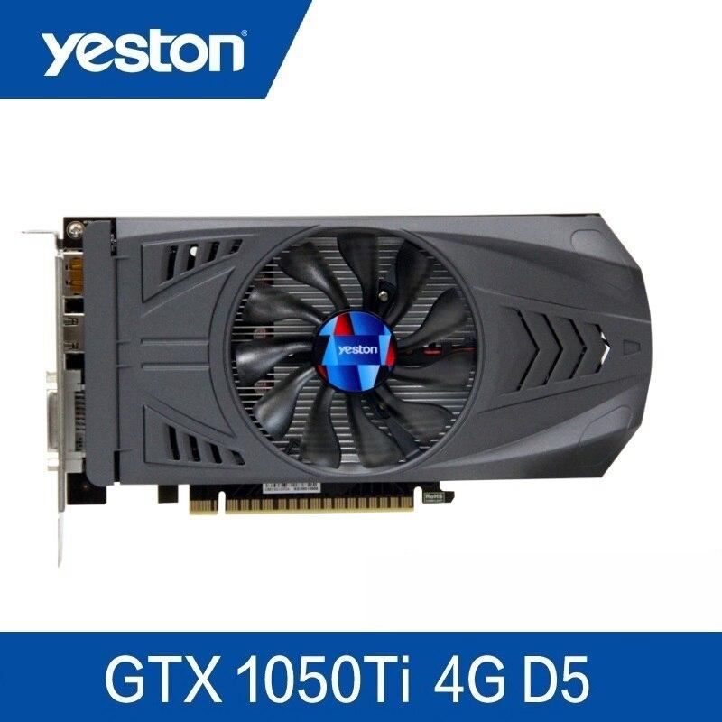 Yeston Geforce Gtx 1050 Ti-4Gb Gddr5 cartes d'image Nvidia Pci Express X16 3.0 ordinateur de bureau